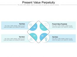 Present Value Perpetuity Ppt Powerpoint Presentation Slides Background Images Cpb
