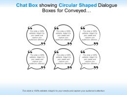 Presentation1chat Box Showing Circular Shaped Dialogue Boxes For Conveyed Messages
