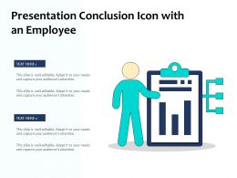 Presentation Conclusion Icon With An Employee
