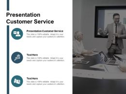 Presentation Customer Service Ppt Powerpoint Presentation Show Styles Cpb