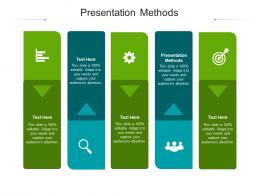 Presentation Methods Ppt Powerpoint Presentation Pictures Graphics Design Cpb