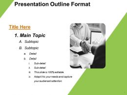 Presentation Outline Format Ppt Examples