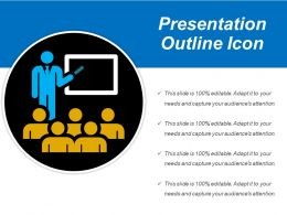Presentation Outline Icon Ppt Ideas
