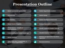 Presentation Outline Ppt Styles Background Image