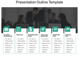 Presentation Outline Template Powerpoint Slide Themes
