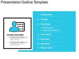 Presentation Outline Template PPT Background