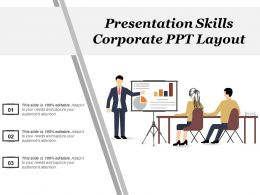 Presentation Skills Corporate Ppt Layout