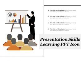 Presentation Skills Learning Ppt Icon