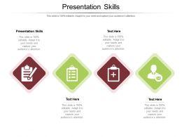 Presentation Skills Ppt Powerpoint Presentation Icon Good Cpb
