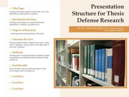 Presentation Structure For Thesis Defense Research