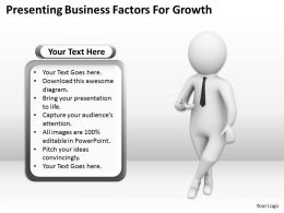 Presenting Business Factors For Growth Ppt Graphics Icons Powerpoint