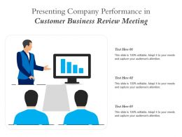 Presenting Company Performance In Customer Business Review Meeting