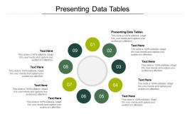 Presenting Data Tables Ppt Powerpoint Presentation Styles Graphic Tips Cpb