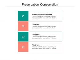 Preservation Conservation Ppt Powerpoint Presentation Model Introduction Cpb