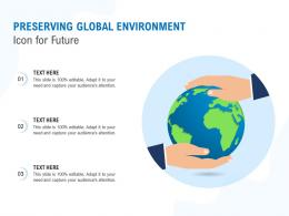 Preserving Global Environment Icon For Future