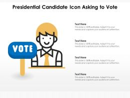 Presidential Candidate Icon Asking To Vote