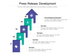 Press Release Development Ppt Powerpoint Presentation Professional Background Designs Cpb
