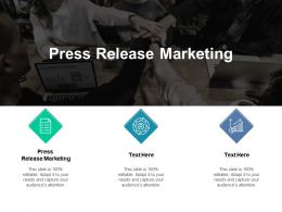 Press Release Marketing Ppt Powerpoint Presentation Infographics Ico Cpb