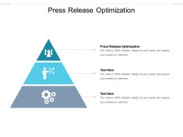 Press Release Optimization Ppt Powerpoint Presentation File Master Slide Cpb