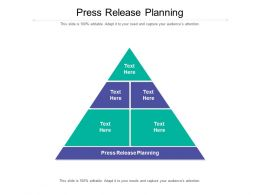 Press Release Planning Ppt Powerpoint Presentation Portfolio Graphic Images Cpb
