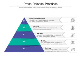 Press Release Practices Ppt Powerpoint Presentation Slides Icons Cpb