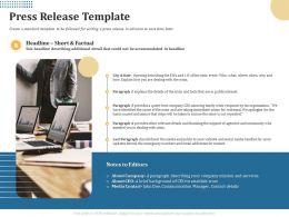 Press Release Template Crisis M2012 Ppt Powerpoint Presentation Portfolio Template