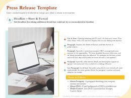 Press Release Template Ppt Powerpoint Presentation Gallery