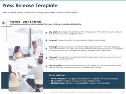 Press Release Template Public Interest Ppt Powerpoint Presentation Sample
