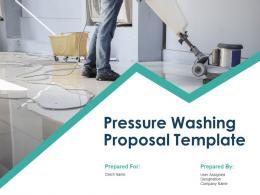 Pressure Washing Proposal Template Powerpoint Presentation Slides