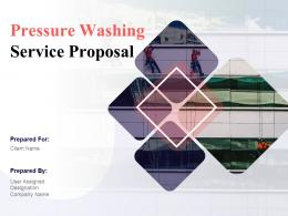 Pressure Washing Service Proposal Powerpoint Presentation Slides