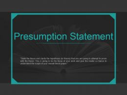 Presumption Statement