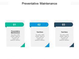 Preventative Maintenance Ppt Powerpoint Presentation Pictures Mockup Cpb