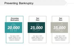 Preventing Bankruptcy Ppt Powerpoint Presentation Infographic Template Background Designs Cpb