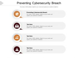 Preventing Cybersecurity Breach Ppt Powerpoint Presentation Inspiration Portfolio Cpb