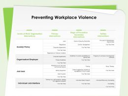 Preventing Workplace Violence Job Interface Ppt Powerpoint Presentation Templates