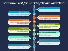 Prevention List For Work Safety And Guidelines
