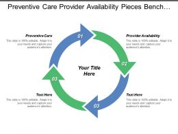 Preventive Care Provider Availability Pieces Bench Snag Materials
