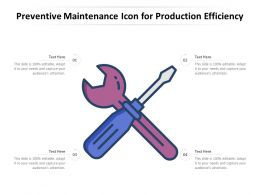 Preventive Maintenance Icon For Production Efficiency