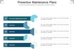 Preventive Maintenance Plans Ppt Powerpoint Presentation Icon Clipart Images Cpb