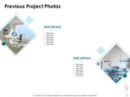 Previous Project Photos Ppt Powerpoint Presentation Icon Rules