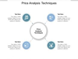 Price Analysis Techniques Ppt Powerpoint Presentation Layouts Background Cpb