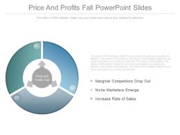 Price And Profits Fall Powerpoint Slides