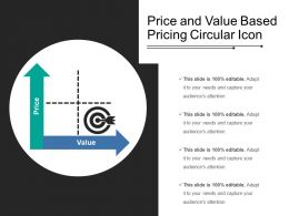 Price And Value Based Pricing Circular Icon