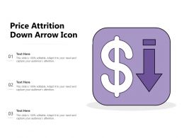 Price Attrition Down Arrow Icon