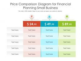 Price Comparison Diagram For Financial Planning Small Business Infographic Template