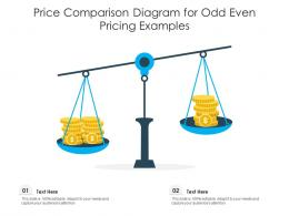 Price Comparison Diagram For Odd Even Pricing Examples Infographic Template