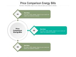 Price Comparison Energy Bills Ppt Powerpoint Presentation Inspiration Information Cpb