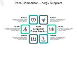 Price Comparison Energy Suppliers Ppt Powerpoint Presentation Model Inspiration Cpb