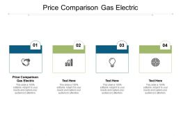 Price Comparison Gas Electric Ppt Powerpoint Presentation Portfolio Templates Cpb