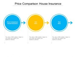 Price Comparison House Insurance Ppt Powerpoint Presentation Gallery Inspiration Cpb